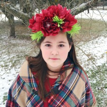 Snow Princess - Paper Flower Crown