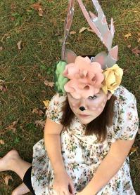 Custom Flower & Antlers hat
