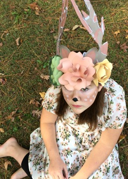 Custom Flower & Antlers hat