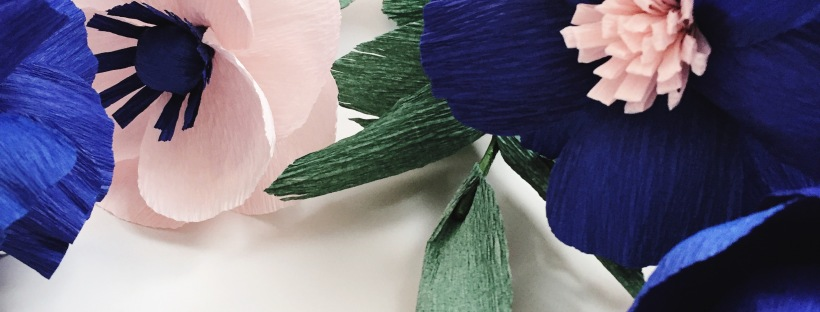 Blue Royals and Pink Anemone @ Bloxom Blooms - Paper Flowers