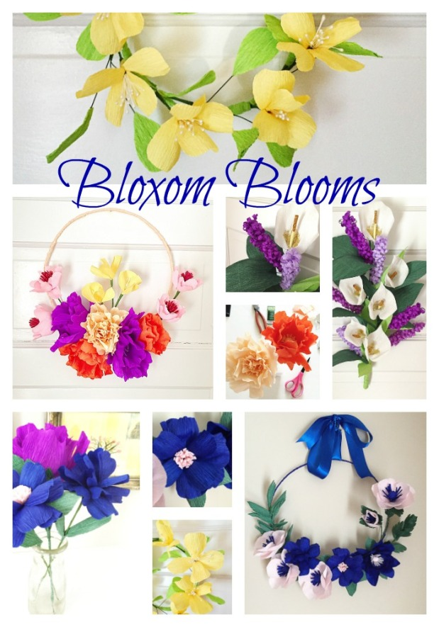 Paper Flower Arragements at Bloxom Blooms - Think Spring!