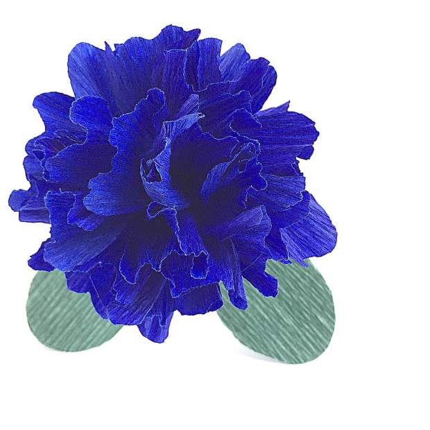 Blue Carnation - Paper Flower Bouquet