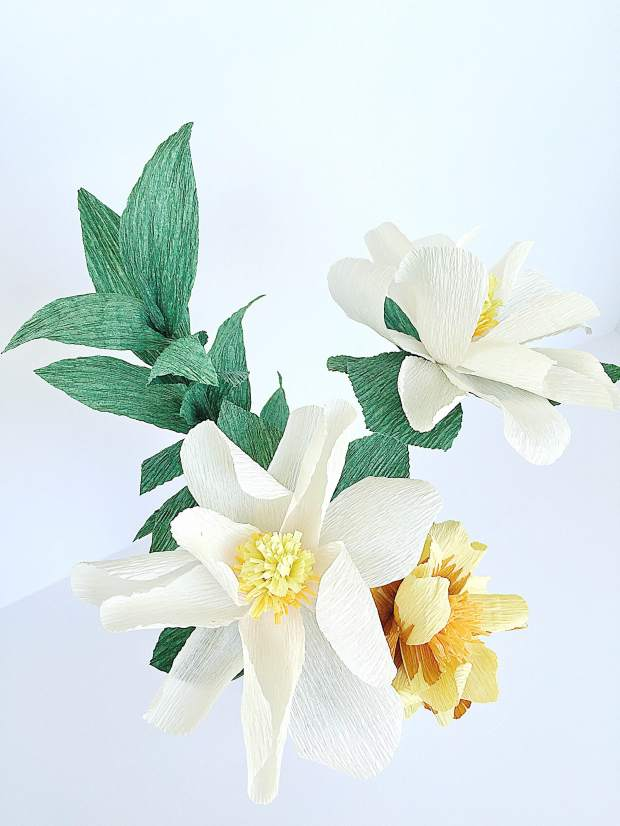 Darcy Bouquet - Magnolias and Yellow Wild Rose